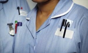 An NHS nurse