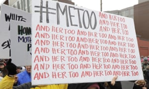 A #MeToo sign carried by protest marchers.