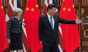Theresa May holds a meeting with Chinese President Xi Jinping at the State Guesthouse in Hangzhou, China.