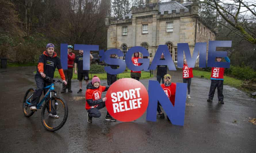 Scottish sporting star Laura Muir at a Comic Relief-funded project, the Edinburgh-based Venture Trust.