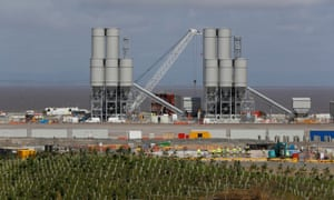 The Hinkley Point C nuclear power station site near Bridgwater in Somerset.