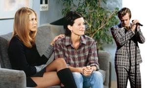 Rachel, Monica and Harry Styles.