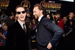 Benedict Cumberbatch and Tom Hiddleston in Los Angeles, US