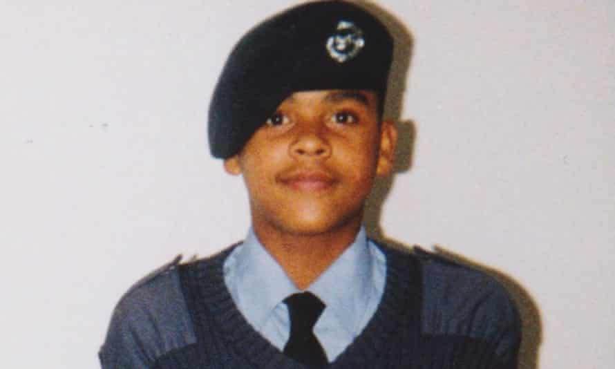 Kevin Maxwell as an Air Training Corps (RAF) cadet in the early 1990s.