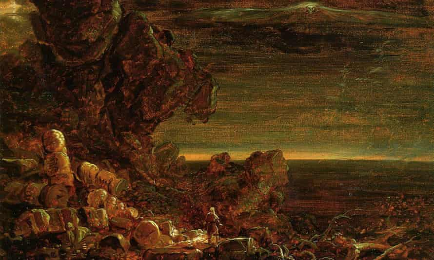The Pilgrim of the World at the End of His Journey 1846-48 by Thomas Cole