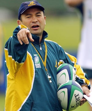 Eddie Jones in his role as Australia coach at the 2003 World Cup