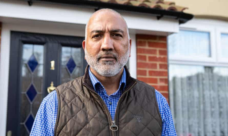 Joginder Singh Bhangu, a local Southall resident protesting against the Southall Waterside Development