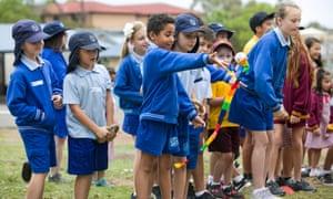 children at Guildford public school in Sydney