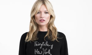 Kate Moss models Bella Freud's charity jumper.