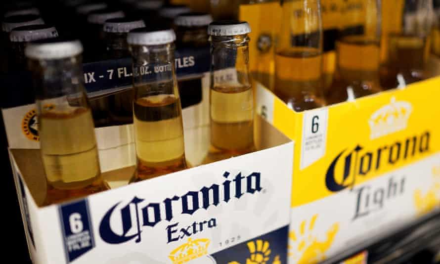 A six-pack of Corona beer