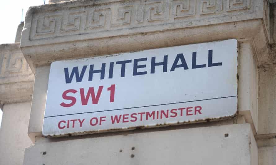 Whitehall SW1 street sign