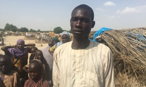 Ali Kawu, 25, fled to the town on Monguno after being attacked by Boko Haram