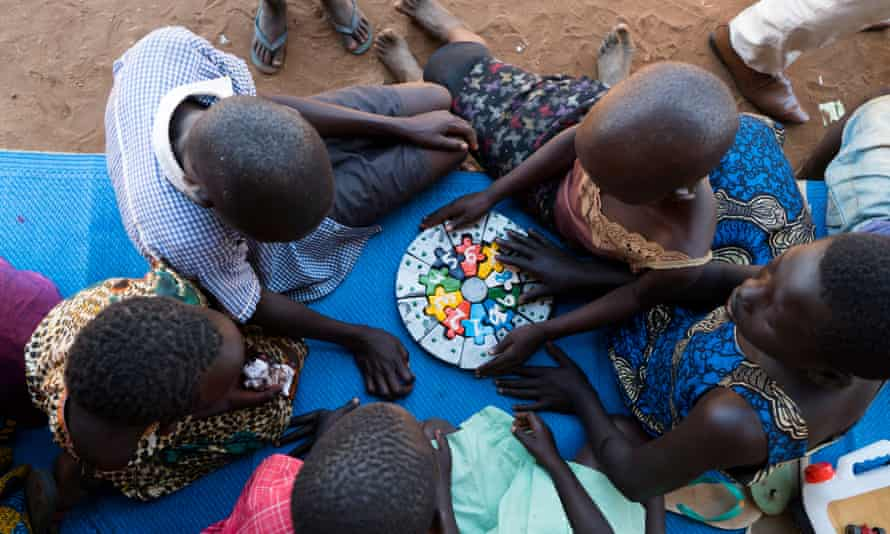 Children in a refugee centre in Yumbe district, northern Uganda