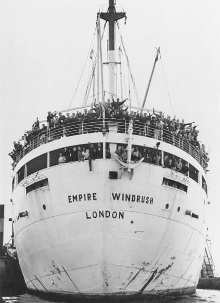 Jamaican immigrants arriving at Tibury Docks in Essex, 22 June 1948 on the Empire Windrush.