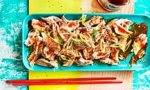 Cold Chicken with Spicy Sichuanese Sauce - Fuchsia Dunlop Prop stylist Tamzin Ferdinando and food stylist Kim Morphew