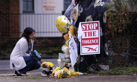 A makeshift memorial in New Orleans, near the spot where Will Smith was shot and killed in an apparent road rage incident.