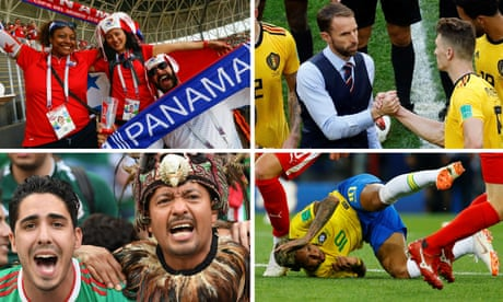 Neymar's roll to Southgate's waistcoats: the World Cup's most watched moments –video