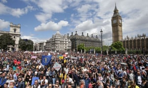 Remain supporters in Parliament Square, London, on Saturday 2 July 2