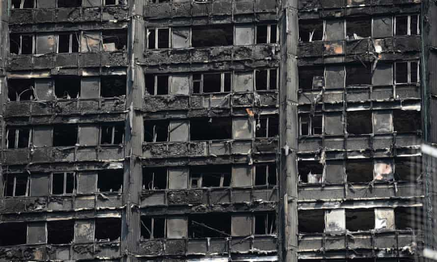 Fire-devastated Grenfell tower