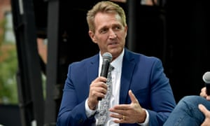 Senator Jeff Flake speaks at Forbes 'Under 30' business summit in Boston on Monday.