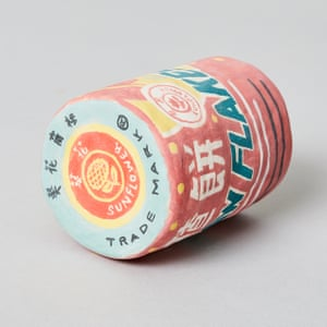 Haw Flakes Chinese Sweets porcelain grocery artwork  by artist Stephanie H Shih.