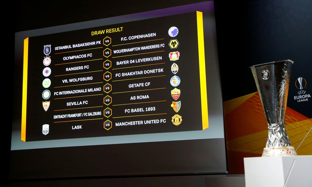 europa league last 16 draw coronavirus updates as it happened football the guardian europa league last 16 draw coronavirus