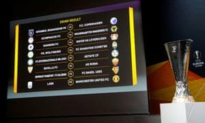 Your Europa League last 16.