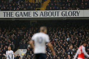 A huge sign in the ground above Harry Kane