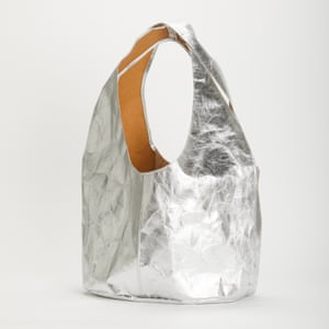 LPOL is a British company with zero waste production at its East London factory. Materials and reclaimed fabric is sourced locally in the UK and Europe.Penrose shopper made with recycled metallic paper, £130, lpol.co.uk