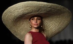 Karachi, PakistanA model presents a creation by Pakistani designer Zaheer Abbas on the first day of the 'Hum Showcase' Fashion Week.