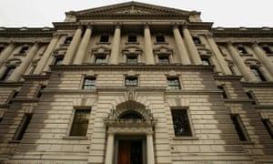 The UK treasury building.