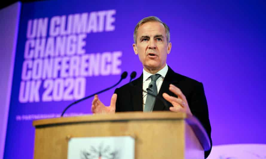 Mark Carney speaking at conference at Guildhall