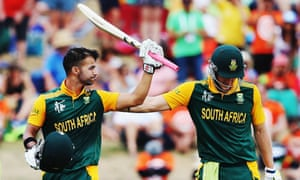 JP Duminy and David Miller put on a world record fifth-wicket stand of 256.