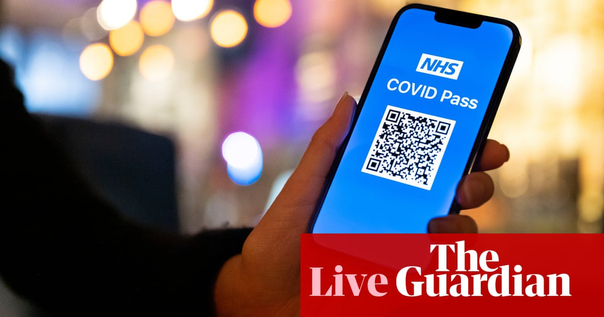 Covid live news: Wales' NHS passes will 'help' venues stay open; French vaccine study shows people 90% less likely to get severely ill