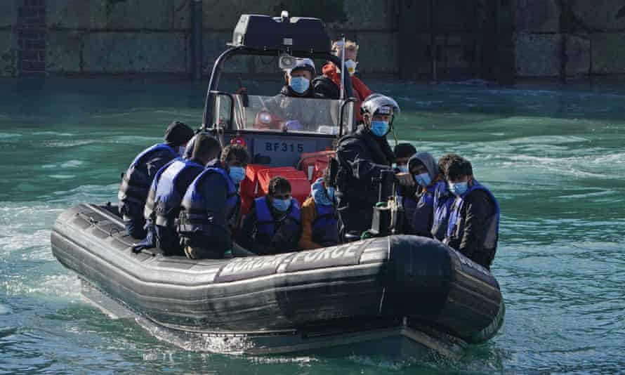 Border Force boat carrying refugees