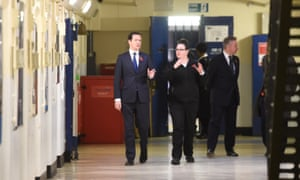 George Osborne and Michael Gove during a visit to Brixton Prison