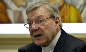 Cardinal George Pell at a press conference in the Vatican.