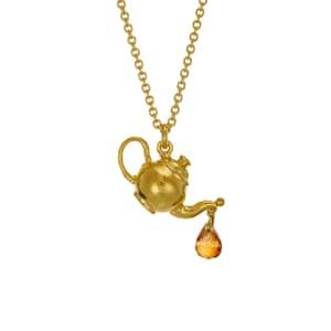 Teapot Necklace and Citrine Drop, £135, alexmonroe.com