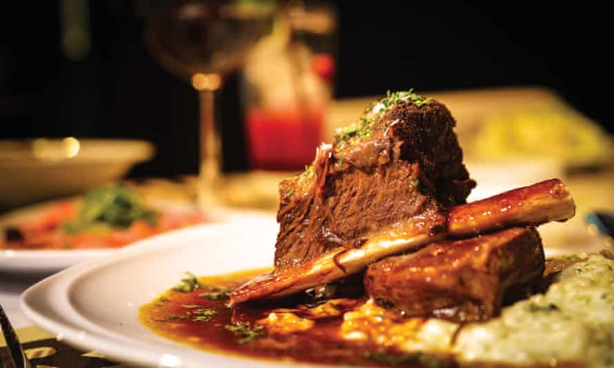 Pass the sherry ... braised beef short ribs