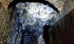 The fatberg discoverd in a London sewer.