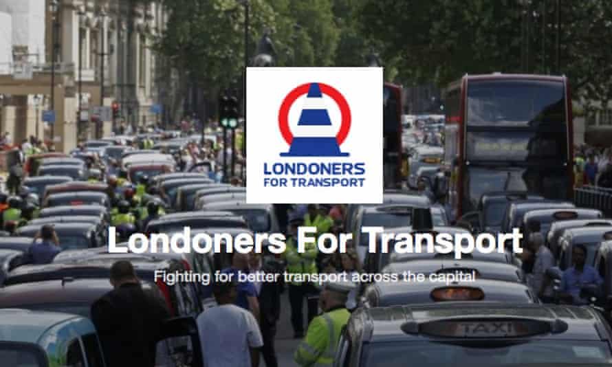 A screengrab from the website of Londoners for Transport.