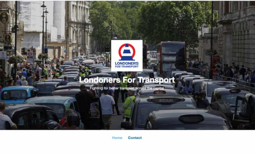 The astroturfed 'news' page Londoners for Transport linked to Sir Lynton Crosby's CTF Partners.
