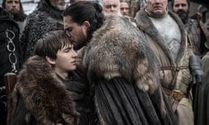 Awkwardfest ... Jon Snow reunited with his brother Bran Stark AKA Captain Buzzkill.