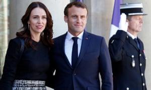 Jacinda Ardern with Emmanuel Macron