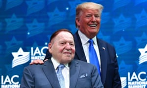 Adelson and his wife Miriam donated more than $100m in each of the last two presidential cycles.