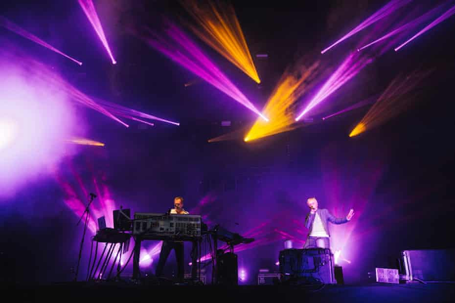 Underworld perform in Manchester in July 2016