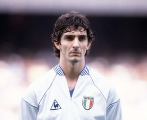 Rossi lines up for an Italy game in Spain.