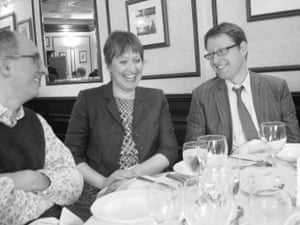 Jonathan Freedland with Fiona and her husband, Robin, in 2011