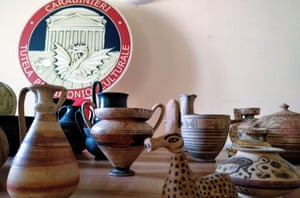Cultural objects seized in Italy.