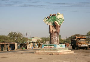 An independence monument in Hargeisa, Somaliland.